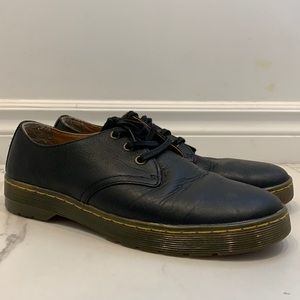 Dr. Martens Black Leather Lace-Up Shoes Size 10